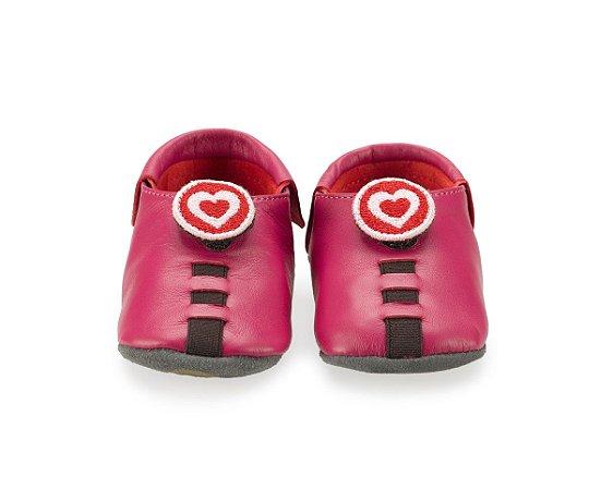 Sapatinho para Bebê Coração Rosa Pink 0 a 24 meses - Shupeas