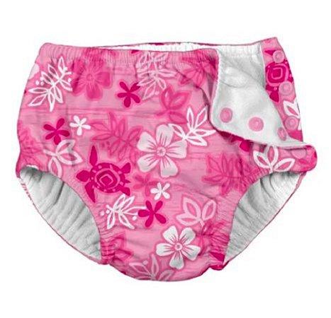Calcinha de Banho Havai Pink 18m a 24m - Iplay