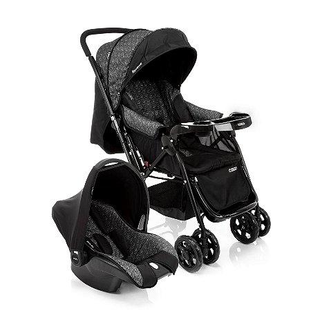 Carrinho de Bebê Travel System Reverse Preto Rajado  - Cosco