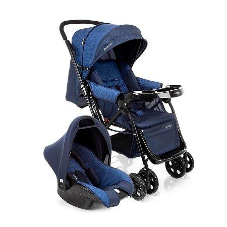 Carrinho de Bebê Travel System Reverse Azul Rajado  - Cosco