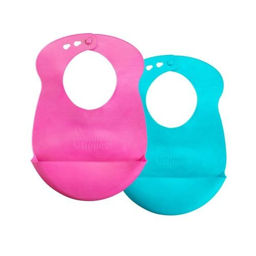 Babadores Roll N'Go Rosa e Turquesa - Tommee Tippee