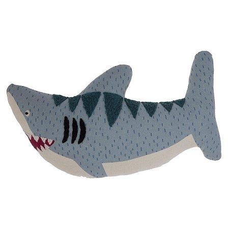 Almofada Bordada Tubarão - Stephen Joseph