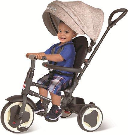 Triciclo Smart Premium Dobrável Cinza - Bandeirante