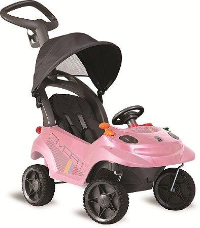 Carrinho de Passeio Infantil Smart Baby Comfort Rosa - Bandeirante