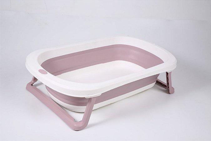 Banheira de Plástico Pequena Rosa - Baby Pil