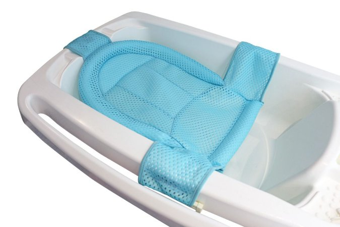 Rede Protetora de Banho Baby Net Azul - Kababy