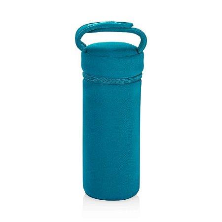 Porta Mamadeira Térmico com Alça Azul - Multikids