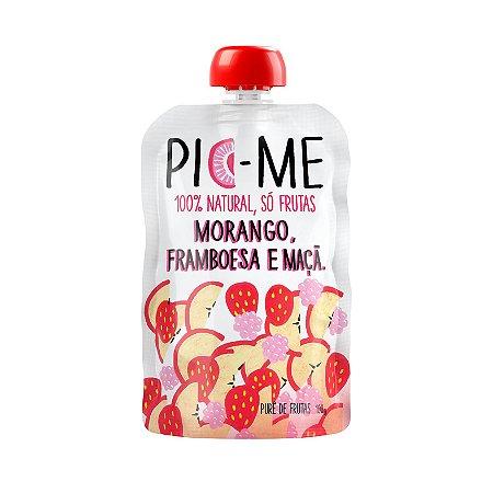 Purê de Frutas Morango, Framboesa e Maça 100g - Pic-Me