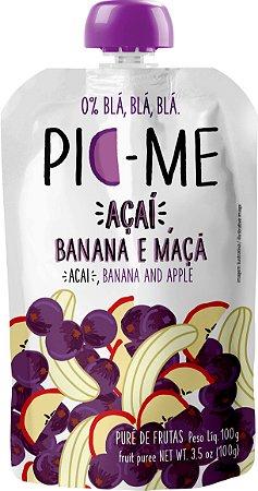 Purê de Frutas Açaí, Banana e Maça 100g - Pic-Me
