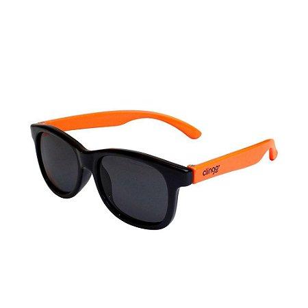Óculos Escuros Preto e Laranja - Clingo