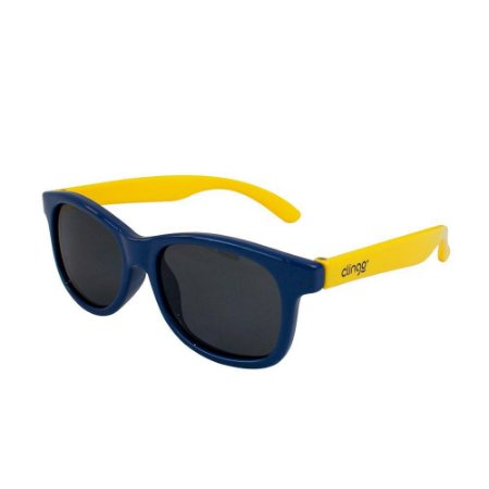 Óculos Escuros Azul e Amarelo Redondo - Clingo