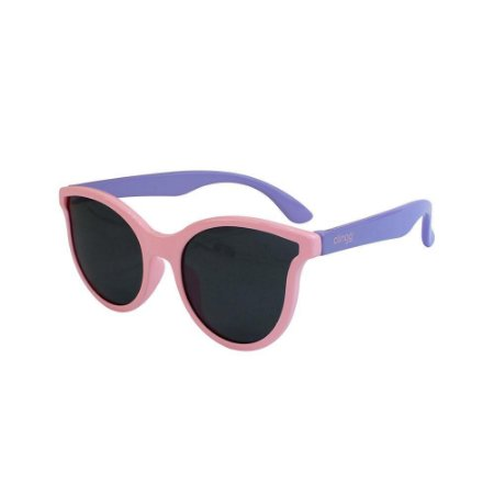 Óculos Gatinha Escuros Rosa e Lilas - Clingo