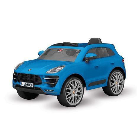 Carro Elétrico 12V Porsche Macan Azul - Bandeirante