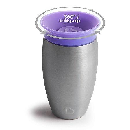 Copo Térmico Inox 360° Roxo - Munchkin