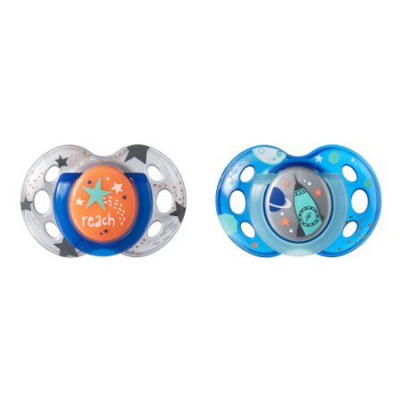 Kit 2 Chupetas Night Time Azul e Cinza 18-36m - Tommee Tippee