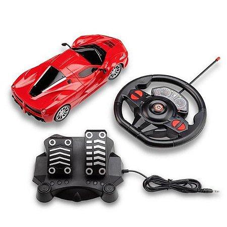 Carrinho de Controle Remoto Racing Speed Vermelho - Multikids