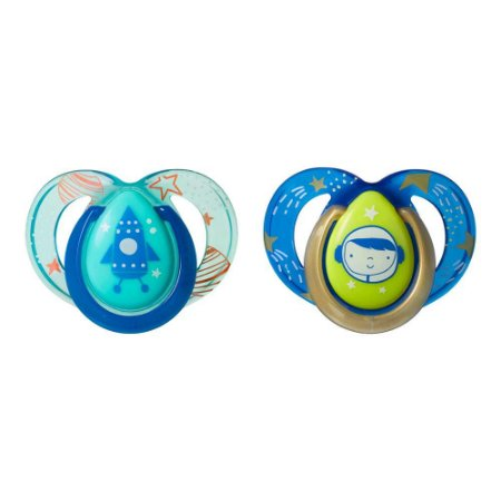Kit 2 Chupetas Night Time Astronauta Boy 06-18m - Tommee Tippee