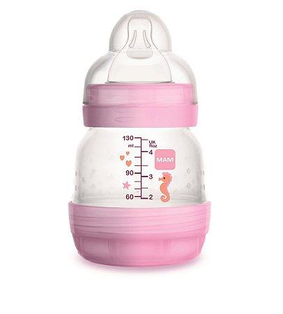 Mamadeira Rosa Easy Start Anticólica 130ml - Mam