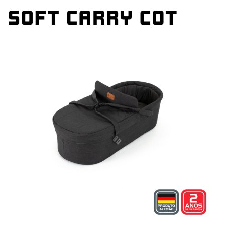Soft Carry Cot Merano Woven Black - ABC Design
