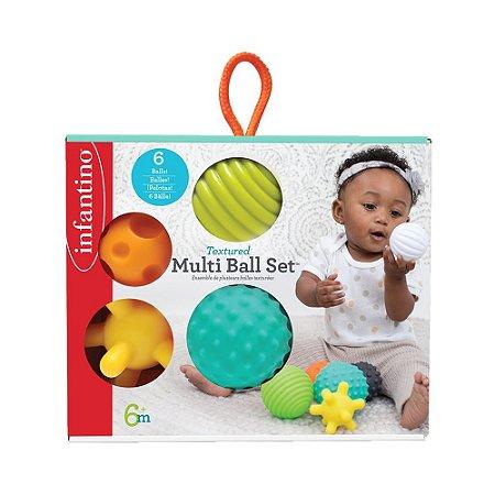 Brinquedo Interativo Bolas de Silicone Texturizada - Infantino