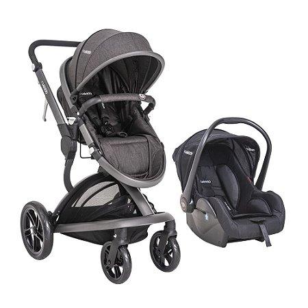 Carrinho de Bebê Travel System Quantum Melange Preto - Kiddo