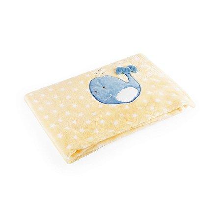 Manta Amarelo Baleia - Baby Pil