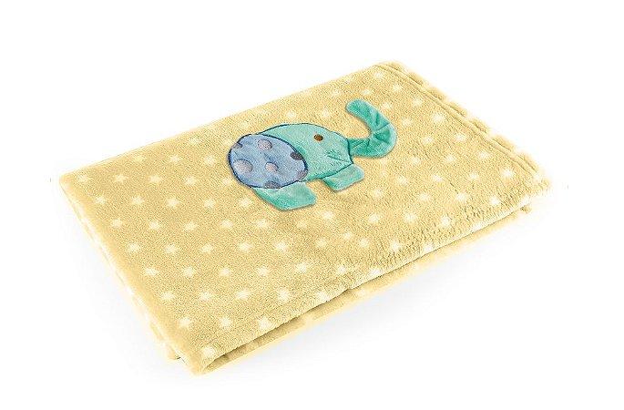 Manta Amarelo Elefante - Baby Pil