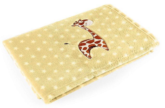 Manta Amarelo Girafa - Baby Pil