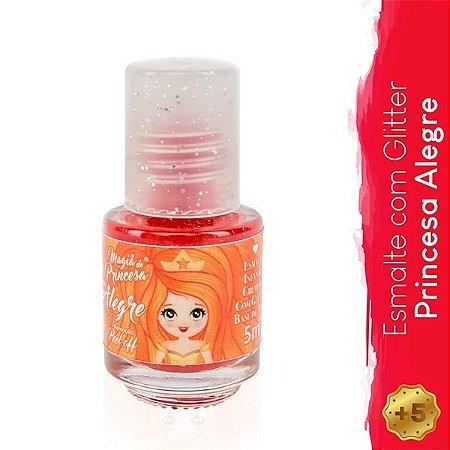 Esmalte Infantil com Glitter Princesa Inteligente - Magia de Princesa
