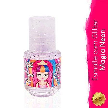 Esmalte Infantil com Glitter Magia Neon - Magia de Princesa