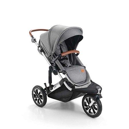 Carrinho de Bebê Jet 3 Rodas Cinza - Litet