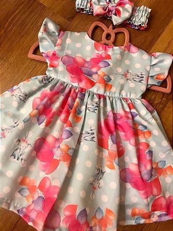Vestido Baby Balões - Sweet Cotton