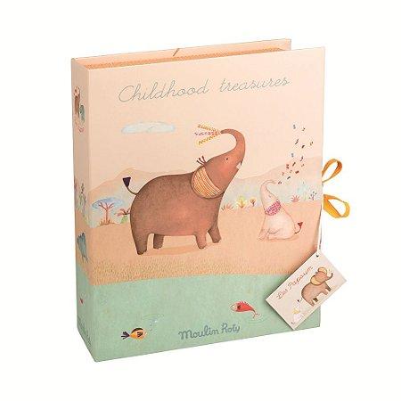 Caixa os Primeiros Tesouros do Bebê Elefante - Moulin Roty