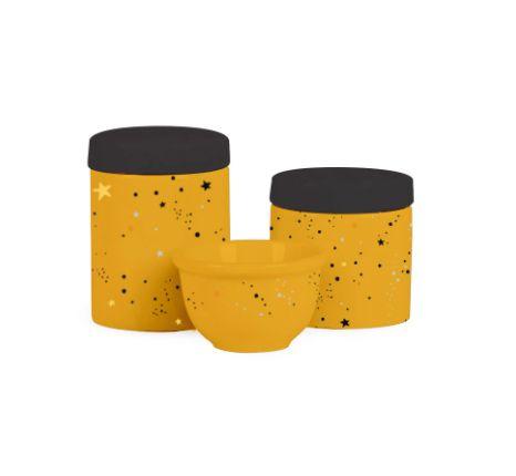 Kit Higiene 3PC Amarelo Mostarda - Modali