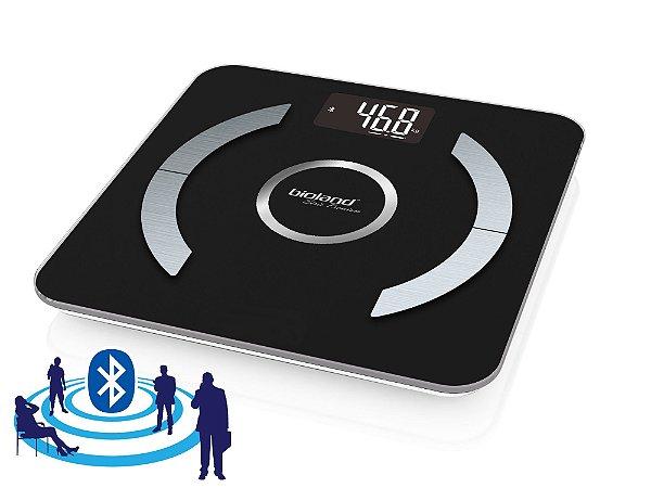 Balança Digital Bluetooth de Vidro com Análise Corpórea - Bioland