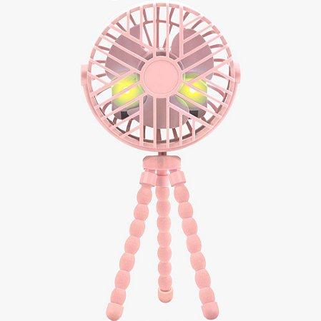 Mini Ventilador para Berço e Carrinho Rosa - Buba