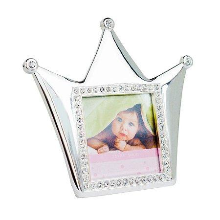 Porta Retrato Coroa Com Strass - Modali Baby