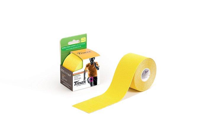 Bandagem Elastica Adesiva 5m x 5cm Amarela - Tmax