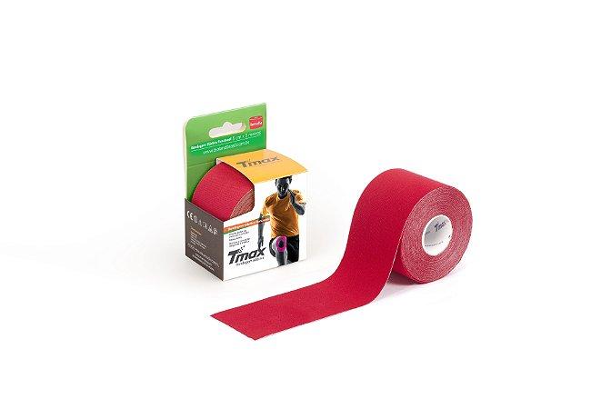 Bandagem Elastica Adesiva 5m x 5cm Vermelha - Tmax