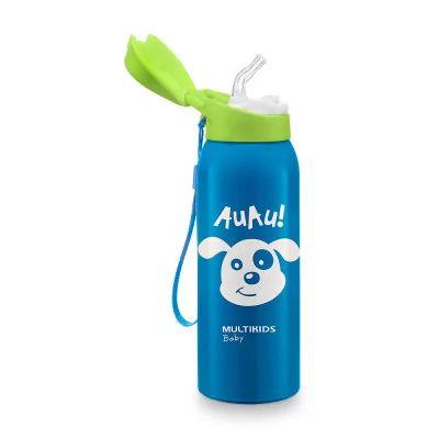 Copo Térmico com Canudo Keep It Cool Azul - Multikids