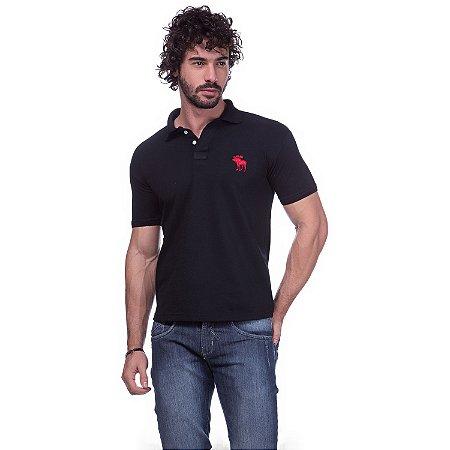 Camisa Gola Polo Abercrombie Preta  02a1e48e63a52