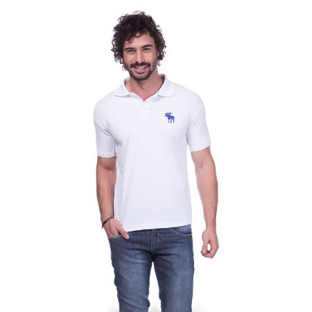 Camisa Polo Abercrombie Branca  a2412f7c3ecba