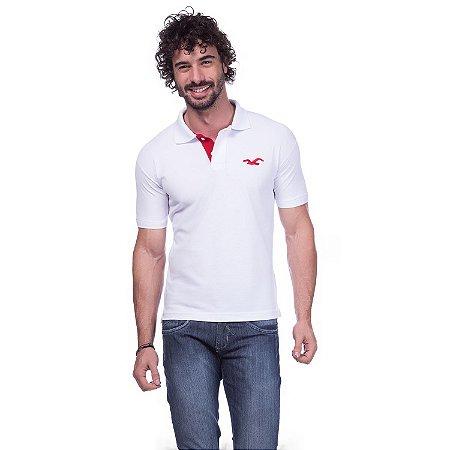 Camisa Gola Polo Hollister Branca - Loja na Grife b52dfb89a0b8f