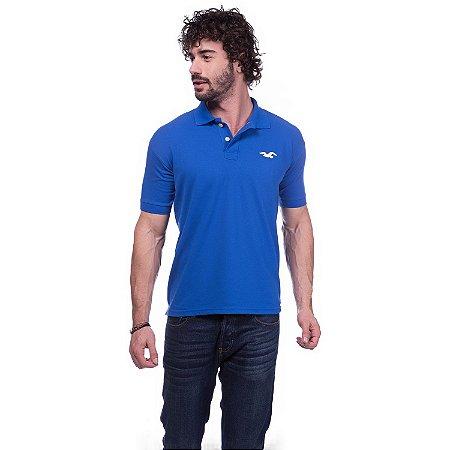 Camisa Gola Polo Hollister Azul - Loja na Grife 67223a58fea90