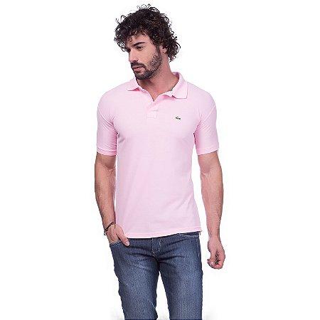 quality design 957d6 2ba74 Camisa Gola Polo Lacoste Rosa