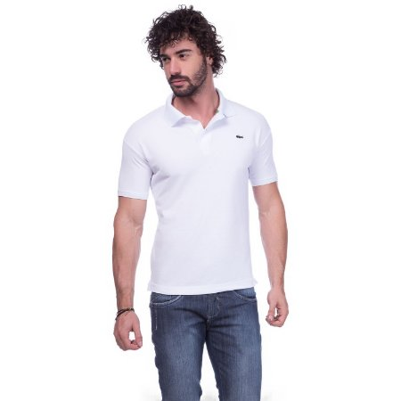 e77ad3b053cc3 Camisa Gola Polo Lacoste Branca - Loja na Grife