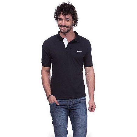 Camisa Gola Polo Nike Preta - Loja na Grife be6f84c8da021