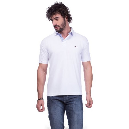Camisa Gola Polo Tommy Branca - Loja na Grife 87ab99b8b1ba9