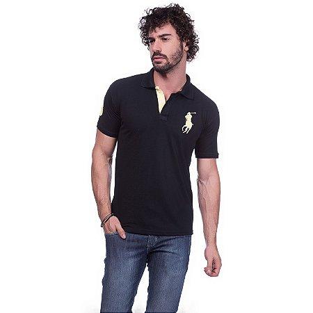Camisa Gola Polo Ralph Lauren Preta - Loja na Grife 7cabe150978