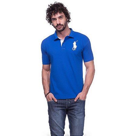 Camisa Gola Polo Ralph Lauren Azul - Loja na Grife 87117926d0e1d